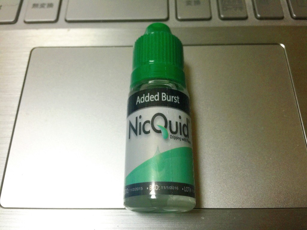 「Added Burst by NicQuid」VAPEリキッド?レビュー