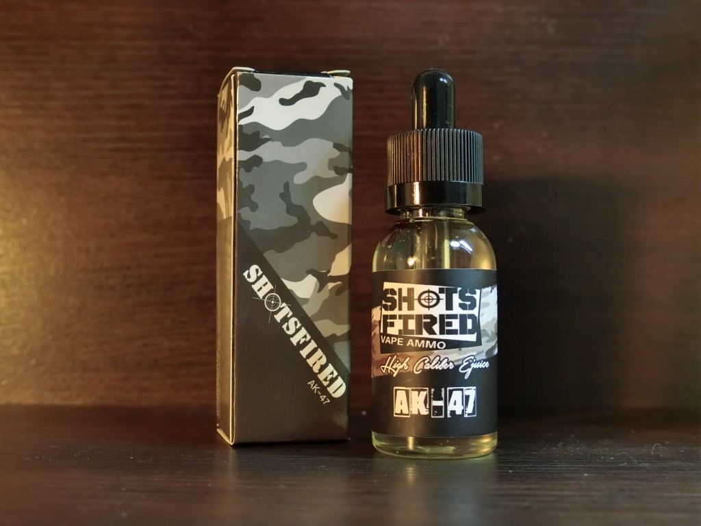 「AK-47 by Shots Fired High Caliber Ejuice」リキッドレビュー